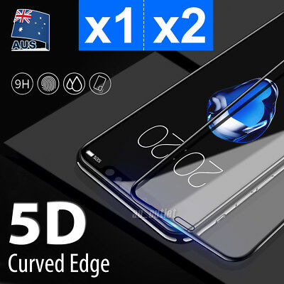 5D Full Tempered Glass Screen Protector Apple iPhone 11 Pro Max XS Max XR 8 7 6s
