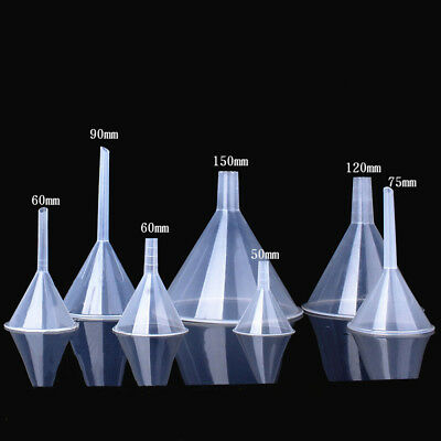 Small Mini PP Plastic Clear Funnels For Perfume Liquid Oil Filling Empty Bottle
