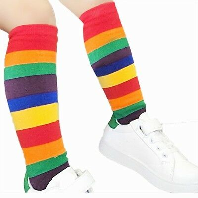 Baby Girl Socks Rainbow Princess Socks Long Tube Booties Striped Kids Socks New