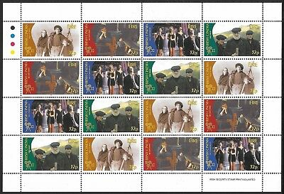Ireland 1996  Cent'y of Irish Cinema, 32p value, sheetlet of 12. MNH Cat £12 [2]