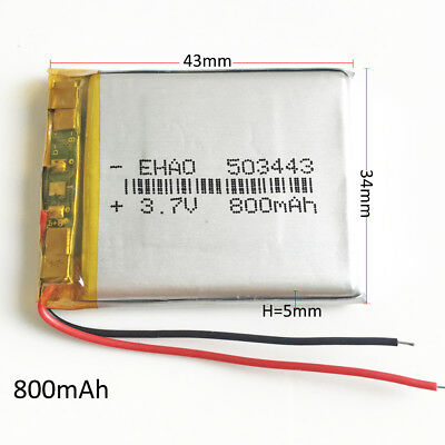 800mAh Lipo Polymer Rechargeable Battery Li cells 3.7V For Mp3 GPS Camera 503443