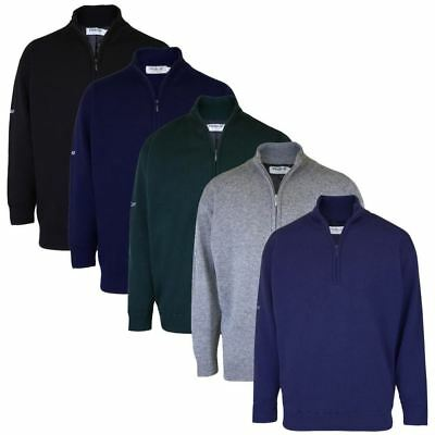 PROQUIP 1/2 Zip Lambswool Fully Lined Jumper Windproof Thermal Golf Sweater