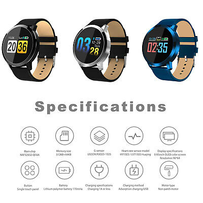 CARDIOFREQUENZIMETRO TRACKER Bluetooth SMARTWATCH FITNESS SPORT per ANDROID iOS