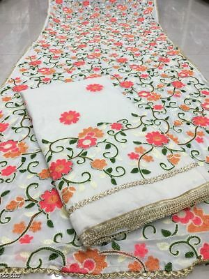 Indian Chanderi Cotton Suits - Embroidery Suit material Indian Dress Material 01