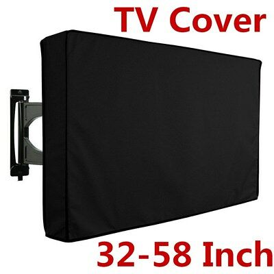 32-58 inch Waterproof TV Cover Outdoor Patio Flat Television Cover Black AU