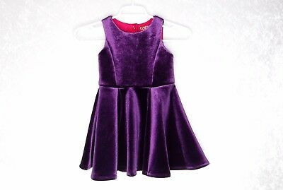 3a1a66ecd56 4T GENUINE KIDS OshKosh Target Formal Pageant Dress Purple Velvet ...