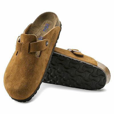 Birkenstock Clogs BOSTON Veloursleder Weichfußbett SFB mink curry normal NEU
