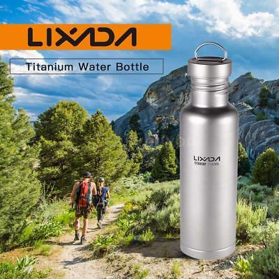 Lixada 500ml/750ml Titanium Water Bottle with Plastic Lid For Camping G2E9