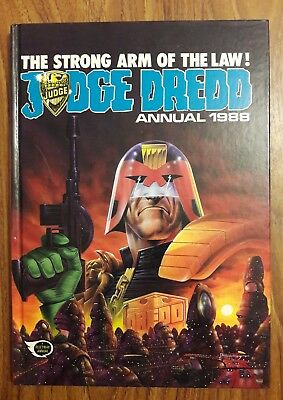 Judge Dredd 1988 Annual Book British Fleetway 2000 A.d. Very Good Condition