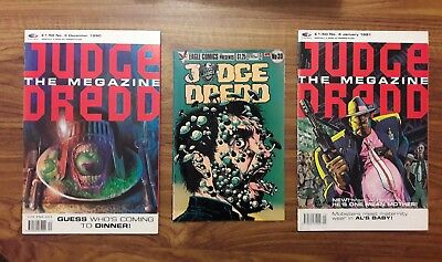 2000 A.D. 2 x JUDGE DREDD MEGAZINES FLEETWAY 1990 & 1991 + 1 x EAGLE COMIC 1986
