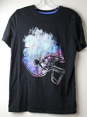 5bb35e10cf18 Cat & Jack Target Boys Black Football Helmet Graphic T-Shirt Short Sleeve  Xl 16