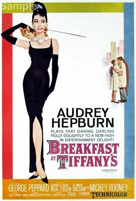Audrey Hepburn Breakfast At Tiffany's Classic Movie Film Poster Print Picture A4