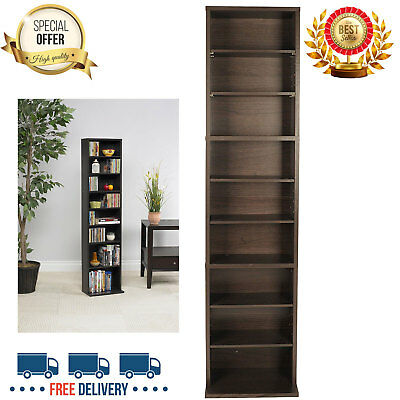 Great CD DVD Storage Tower Cabinet Wall Rack Movie Video Game Case Stand Media  Shelf