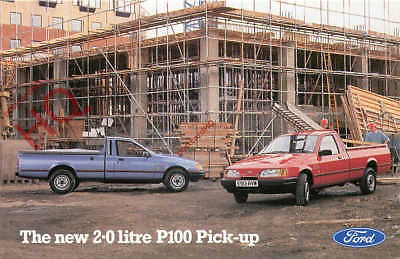 Picture Postcard, FORD MOTORS, THE NEW 2.0 LITRE P100 PICK-UP