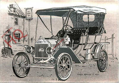 Picture Postcard:;FORD MODEL T 1915, REFLECTIVE [DUFEX]