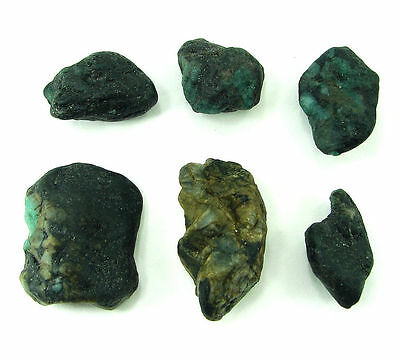 500.00 Ct Natural Green Emerald Loose Gemstone Rough Specimen Lot 6 Pcs - RH240