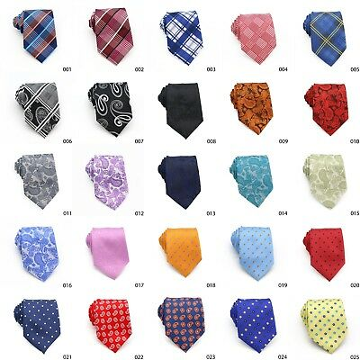 Paisley Floral Tartan Men 8Cm Wide Standard Width Neck Tie Quality Party Wedding