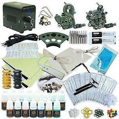 1TattooWorld Professional Tattoo Kit 2 Tattoo Machines, Digital Power Supply, 15
