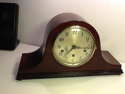 Edwardian Napoleon Hat Style Oak Cased Mantel Clock ,Working,Spares or Repair