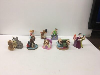 Disney Store Lil Classics Lot of 8 PVC Figures LADY AND THE TRAMP , PETER PAN