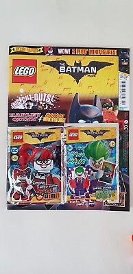LEGO Batman Movie Magazine Issue 4 With Exclusive Harley Quinn and Joker RARE