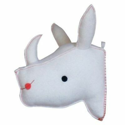 Stuffed 3D Rhino Rhinoceros Head Baby Wall Decor Threshold Target Kids White