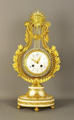 Fine French Lyre Clock