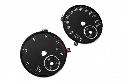 Volkswagen Passat B6, B7 - Replacement dial - converted from MPH to Km/h BLACK D