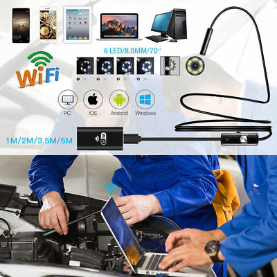 WiFi Endoskop USB Wasserdicht 6 LEDs Endoscope Inspektion Kamera Für Android iOS