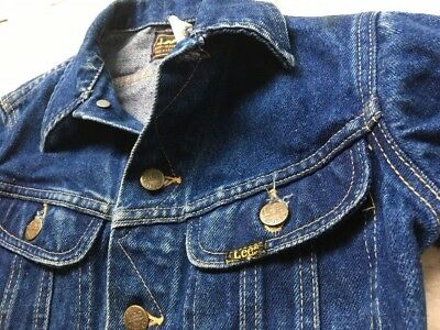 VTG Vintage Lee Rider DENIM Jacket Youth size 10, made in USA