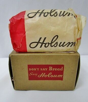 Vintage 1940 Holsum Enriched White Bread Advertising Loaf Holiday Gift