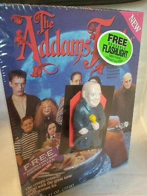 1991 The Adams Family Cereal Box with monster flashlight - Lurch. Sealed