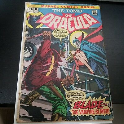 Tomb of Dracula #10 (Jul 1973, Marvel) first app of blade.. hot book list top 10
