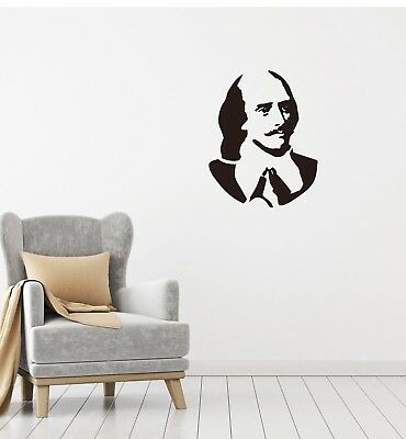 Wall Vinyl Decal William Shakespeare English Poet Playwright Actor z4708