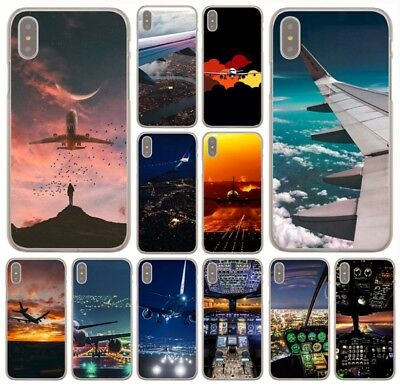 cool case airplane Hard Phone Cover Case for iphone XS Max XR X 8 7 6 plus