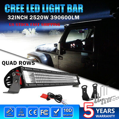 "32""INCH 2520W LED Work Light Bar Spot Flood Combo Driving Off-Road Truck 4WD 30"""