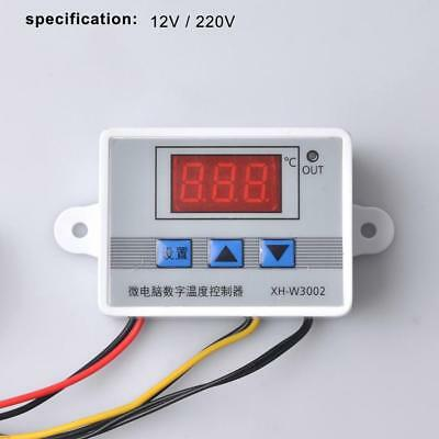 12V 220V Digital LED Temperature Controller Thermostat Control Switch Probe FT