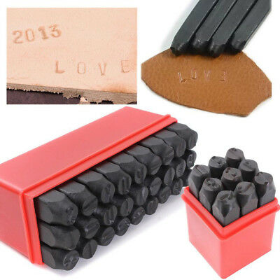 2mm Stamps Numbers OR Letters Alphabet Set Punch Steel Metal Leather Craft Tool