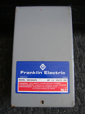 """Franklin Electric Control Box - 4"""" Submersible Motor - 230 V, 1/2 HP #2801054915"""