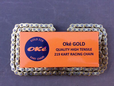 100 Link 219 Go Kart Chain Oke GOLD BEST PRICE/QUALITY Certified ISO 9001 Chain