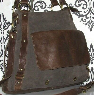 fd02bb21f52 Large Clarks Temple Beam Real Leather Crossbody Slouch Satchel Shoulder/ purse
