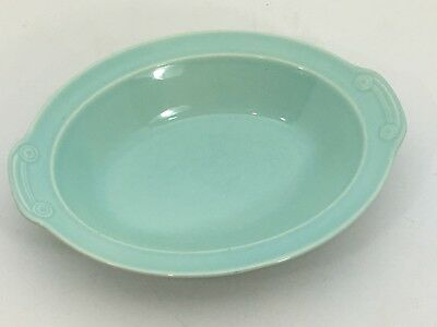 Vintage LuRay Pastels Mint Green Oval Serving Dish