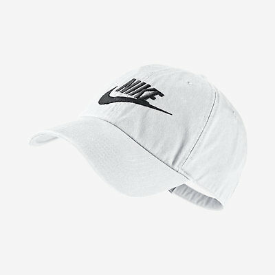 898a71a4ad9 Adult Unisex Nike Futura Washed Heritage 86 Cap 626305-101 White FREE  SHIPPING