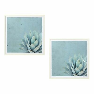 NEW Amalfi Willow Agave Framed Canvas Print (Set of 2)