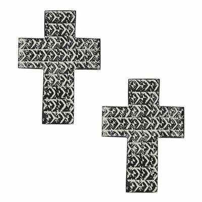 NEW Amalfi Saxon Cross Wall Sculpture (Set of 2)