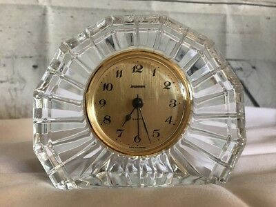 Staiger Quartz Desk/Shelf/Mantel Clock French Crystal Made in West Germany