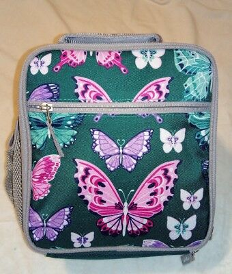 Pottery Barn Kids Mackenzie Classic Lunch Bag Teal Pretty Butterfly NWT