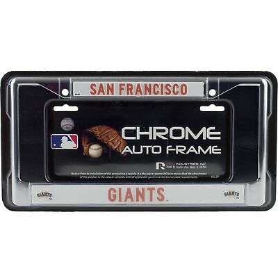 SAN FRANCISCO GIANTS Laser Cut Black Chrome Metal License Plate ...