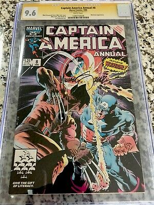 Captain America Annual #8 (1986) CGC 9.6 SS Mike Zeck
