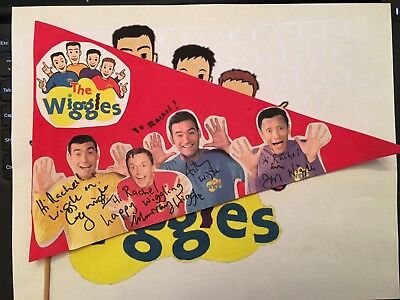 The Wiggles Rare Autographed Pennant 2001